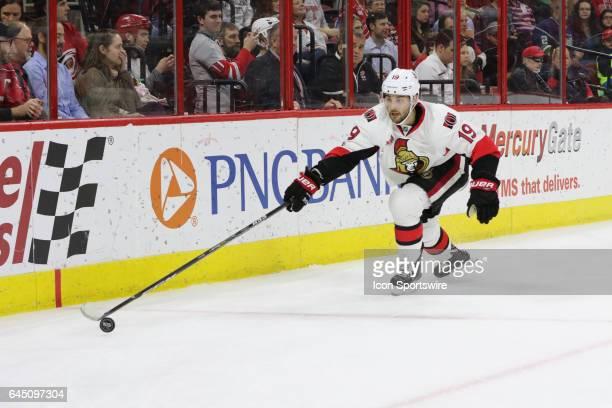 Ottawa Senators Center Derick Brassard in action during the 1st period of the Carolina Hurricanes game versus the Ottawa Senators on February 24 at...