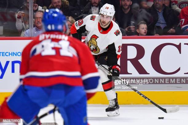 Ottawa Senators Center Derick Brassard looks for a pass target during the Ottawa Senators versus the Montreal Canadiens game on November 29 at Bell...