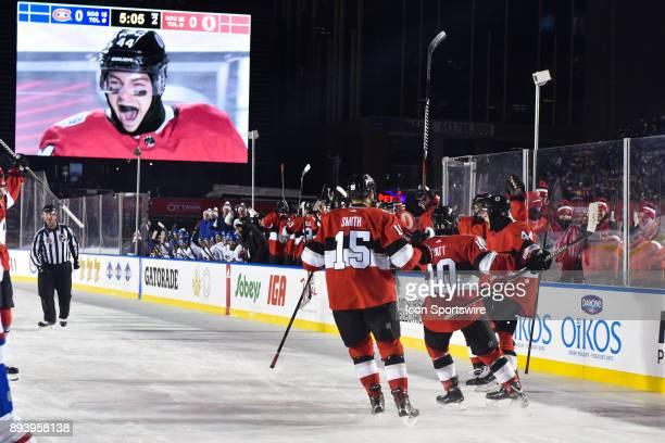 Ottawa Senators Center JeanGabriel Pageau celebrates his goal making the score 10 Ottawa during the Montreal Canadiens versus the Ottawa Senators...