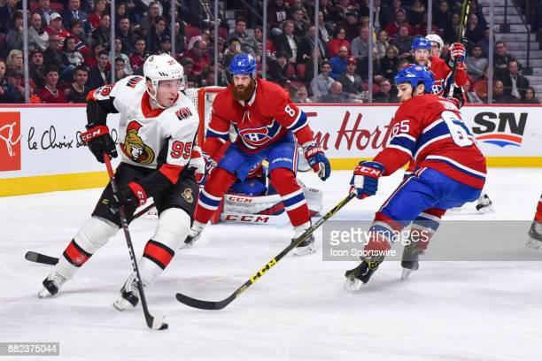 Ottawa Senators Center Matt Duchene looks for a pass target during the Ottawa Senators versus the Montreal Canadiens game on November 29 at Bell...