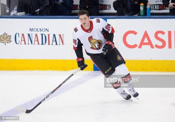 Ottawa Senators center Matt Duchene skates during the warm up before a game between the Ottawa Senators and the Toronto Maple Leafs at the Air Canada...