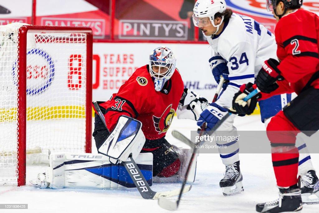 NHL: MAR 25 Maple Leafs at Senators : News Photo