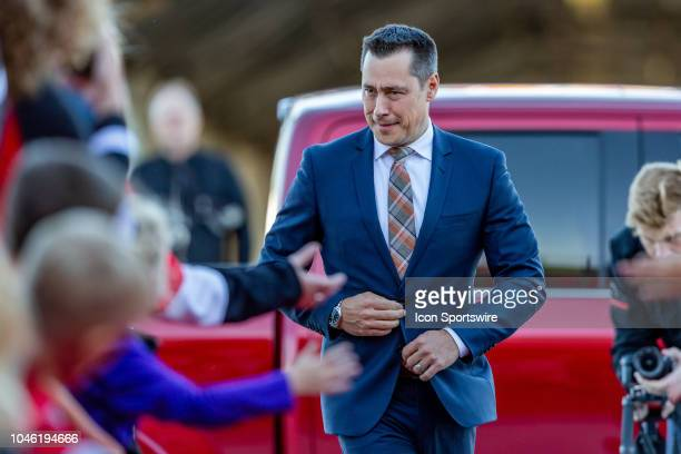 Ottawa Senators Head Coach Guy Boucher walks the Red Carpet for home opener before National Hockey League action between the Chicago Blackhawks and...