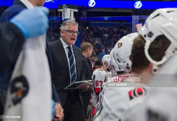 Ottawa Senators Head Coach Marc Crawford makes his team debut as head coach against the Tampa Bay Lightning at Amalie Arena on March 2 2019 in Tampa...