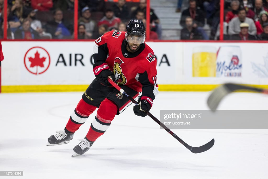 NHL: FEB 24 Flames at Senators : News Photo