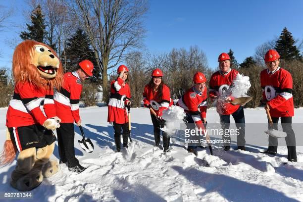 Ottawa Senators mascot Spartacat Chair of Ringside for Youth Steve Gallant Executive Director Boys and Girls Club of Ottawa Colleen Mooney President...