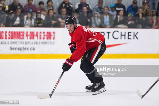 Ottawa Senators Prospect Defenseman Erik Brannstrom during the Ottawa Senators Development Camp on June 29 at Bell Sensplex in Ottawa ON Canada