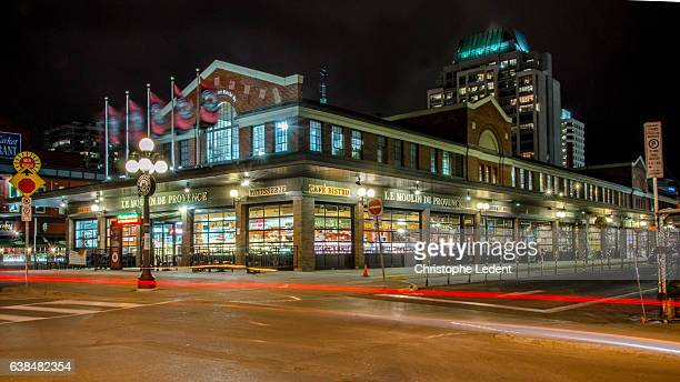 ottawa's byward market building at night - ottawa stock pictures, royalty-free photos & images