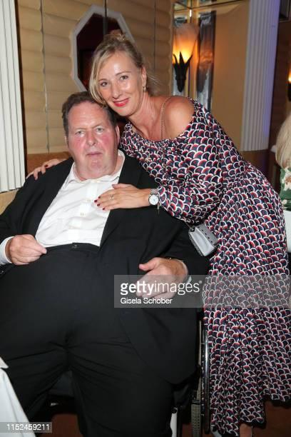 Ottfried Fischer and his girlfriend Simone Brandlmeier during the opening night of the Munich Film Festival 2019 Party at Hotel Bayerischer Hof on...