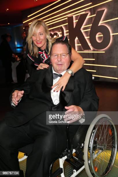 Ottfried Fischer and his girlfriend Simone Brandlmeier during the opening night of the Munich Film Festival 2018 at Mathaeser Filmpalast on June 28...