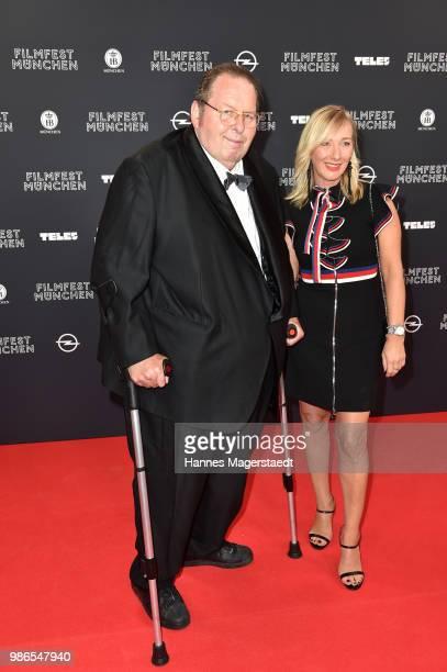 Ottfried Fischer and Simone Brandlmeier during the opening night of the Munich Film Festival 2018 at Mathaeser Filmpalast on June 28 2018 in Munich...