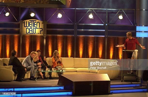 Ottfried Fischer Boris Becker Claudia Schiffer Sven Hannawald Anastacia Johannes B Kerner laufen ZDF 'Wetten Dass' Braunschweig