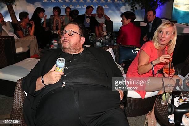 Ottfried Fischer Simone Brandlmeier attend the Movie meets Media party during the Munich Film Festival on June 29 2015 in Munich Germany