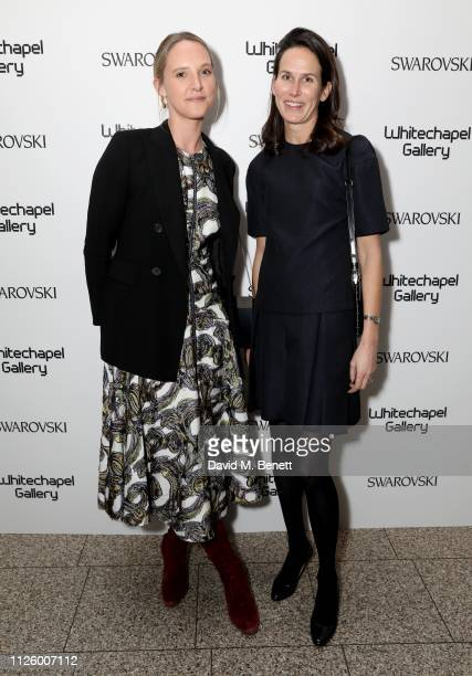 Ottilie Windsor and guest attend a glamorous gala dinner at Whitechapel Gallery as Rachel Whiteread is celebrated as the recipient of the Whitechapel...