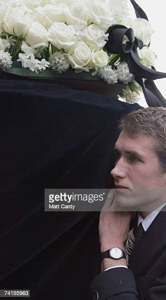 Ottis Ferry carries the coffin at the funeral service for fashion stylist Isabella Blow at Gloucester Cathedral on May 15 2007 in Gloucester England...