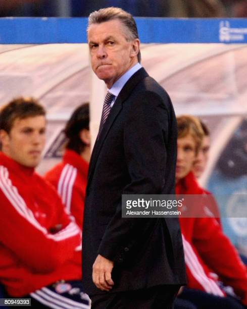 Ottmar Hitzfeld, head coach of Bayern Munich looks dejected during the UEFA Cup semi final 2nd leg match between Zenit St. Petersburg and Bayern...