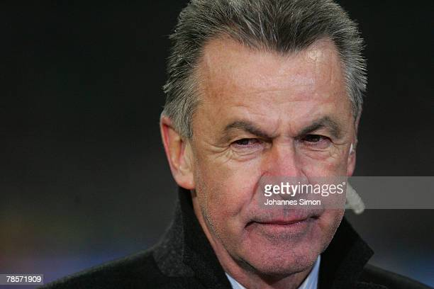 Ottmar Hitzfeld headcoach of Bayern smiles after the UEFA Cup Group F match between Bayern Munich and Aris Saloniki at the Allianz Arena on December...