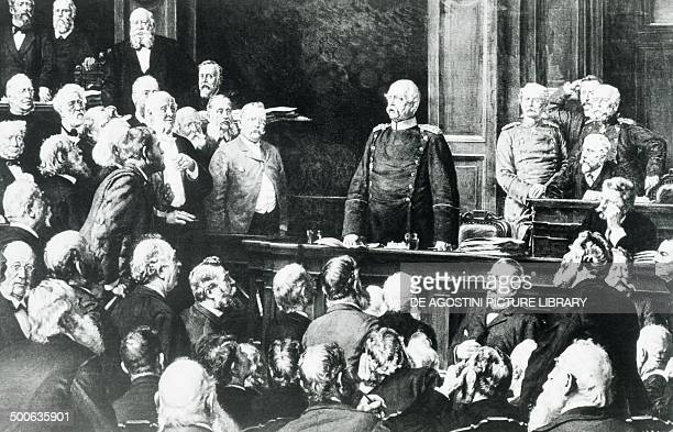 Otto Eduard Leopold Prince of Bismarck known as Otto von Bismarck during his speech at the Conference of the German Reichstag on the 6th February...