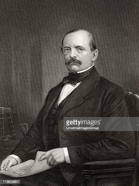 Otto Eduard Leopold Prince von Bismarck Duke of Lauenburg Count von BismarckSchˆnhausen 1815 to 1898 Prussian politician and statesman Engraving...