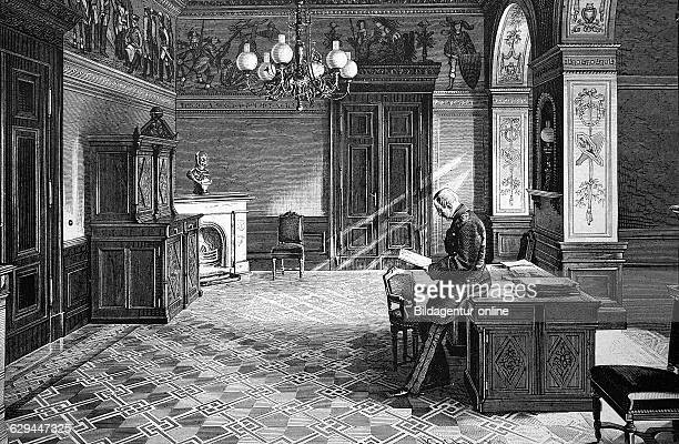 Otto julius graf von moltke 1847 1928 monastery provost officer and member of the german reichstag in the lecture room of the general staff building...