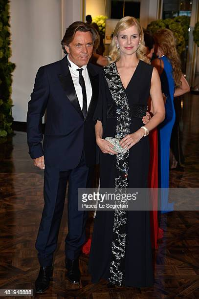 Otto Kern and guest attend the Monaco Red Cross Gala on July 25 2015 in MonteCarlo Monaco