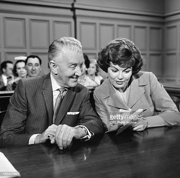 MASON Otto Kruger as August Dalgran and Barbara Hale as Della Street in The Case of the Counterfeit Crank Image dated March 20 1962
