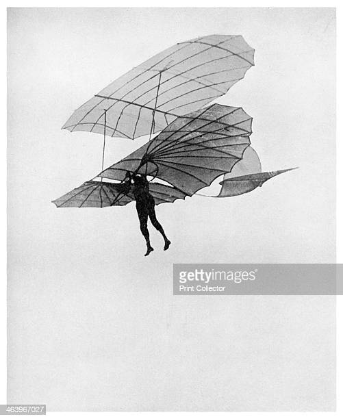 Otto Lilienthal makes one of his last flights 1896 Otto Lilienthal German gliding pioneer and aeronautical inventor flying one of his gliders He made...