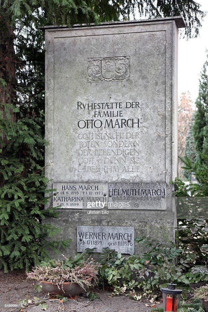 Architekt In Berlin otto march architekt d grab luisenfriedhof in berlin westend