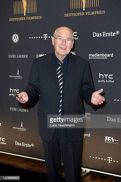 """Otto Mellies attends nominees reception for the """"Deutscher Filmpreis"""" at the PanAm Lounge on April 14, 2012 in Berlin, Germany."""