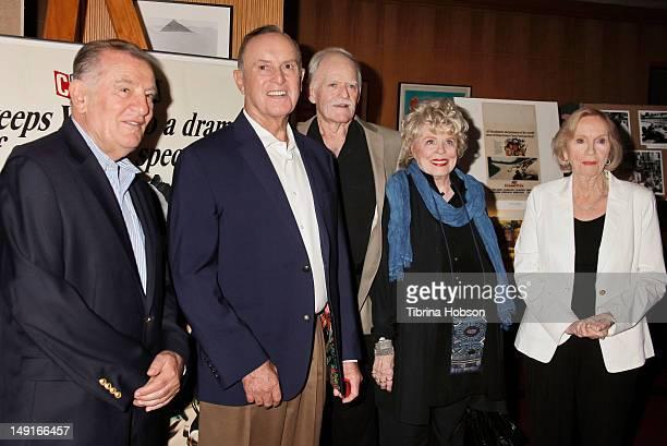 Otto Nemenz Bob Bondurant John Stephens Evans Evans Frankenheimer and Eva Marie Saint attend the last 70mm film festival series screening of 'Grand...
