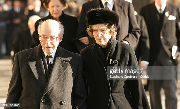 HRH Otto of Habsburg attends the funeral of Grand Duchess of Luxembourg JosephineCharlotte daughter of former Belgian King Leopold III and sister of...