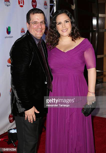 Otto Padron and Angelica Vale arrive at Sabado Gigante's 50th Anniversary Gala Red Carpet at JW Marriott Marquis on October 28 2012 in Miami Florida