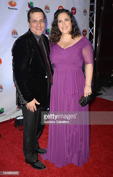Otto Padron and Angelica Vale arrives at Sabado Gigantes 50th Anniversary Gala Red Carpet at JW Marriott Marquis on October 28 2012 in Miami Florida