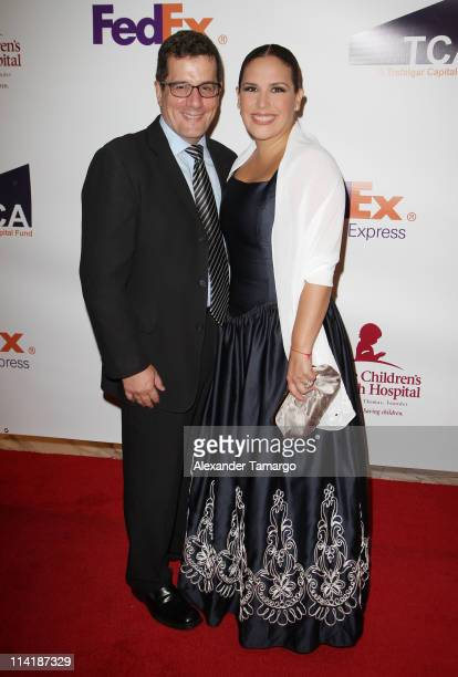 Otto Padron and Angelica Vale attend the 9th Annual FedEx/St Jude Angels and Stars Gala at JW Marriott on May 14 2011 in Miami Florida