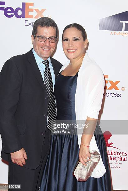Otto Padron and Angelica Vale attends the 9th Annual FedEx/St Jude Angels and Stars Gala at JW Marriott on May 14 2011 in Miami Florida