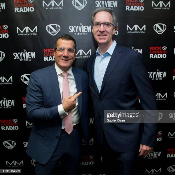 Otto Padron and Steve Jones attend Nick Cannon Meruelo Media Skyview Announce Radio Syndication on December 04 2019 in Burbank California