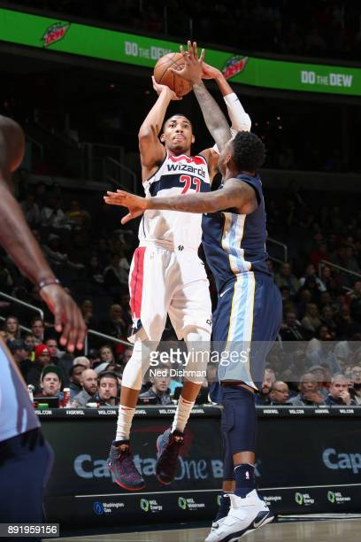 Otto Porter Jr #22 of the Washington Wizard shoots the ball against the Memphis Grizzlies on December 13 2017 at Capital One Arena in Washington DC...