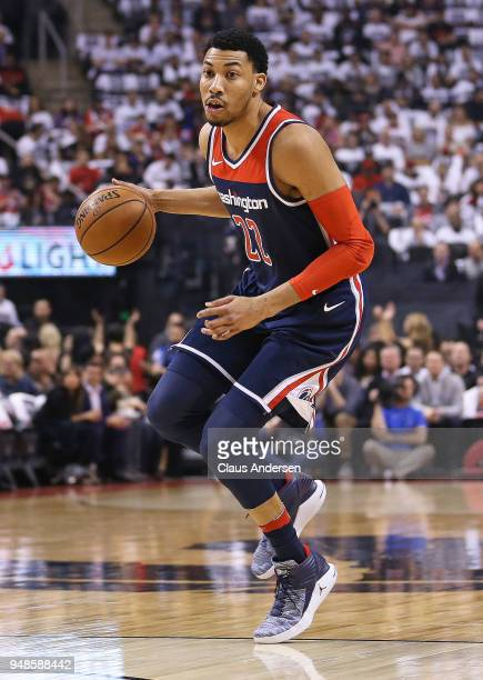 Otto Porter Jr #22 of the Washington Wizards brings the ball up court against the Toronto Raptors in Game Two of the Eastern Conference First Round...