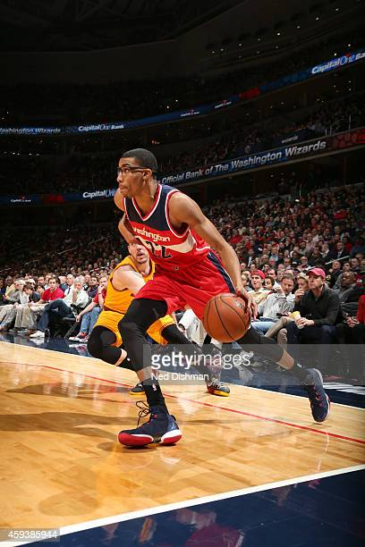 Otto Porter Jr #22 of the Washington Wizards handles the ball against the Cleveland Cavaliers during the game on November 21 2014 at Verizon Center...