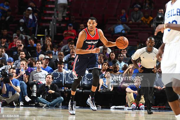 Otto Porter Jr #22 of the Washington Wizards handles the ball against the Philadelphia 76ers in a preseason game on October 6 2016 at Wells Fargo...