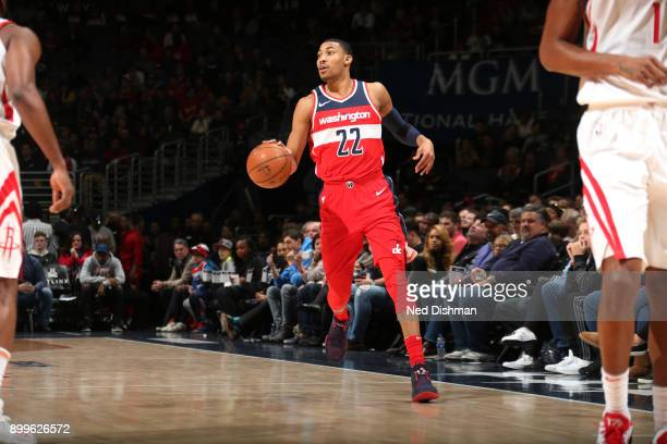 Otto Porter Jr #22 of the Washington Wizards handles the ball against the Houston Rockets on December 29 2017 at Capital One Arena in Washington DC...