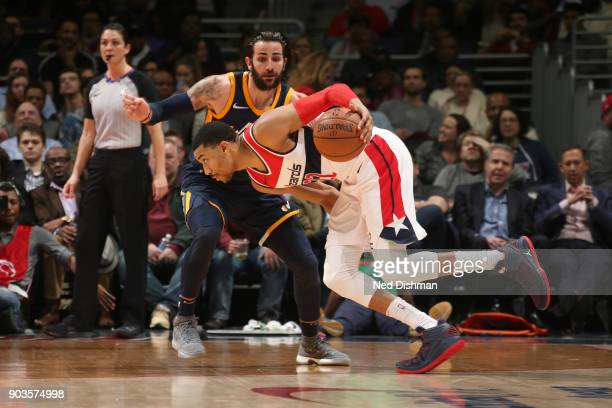 Otto Porter Jr #22 of the Washington Wizards handles the ball against the Utah Jazz on January 10 2018 at Capital One Arena in Washington DC NOTE TO...
