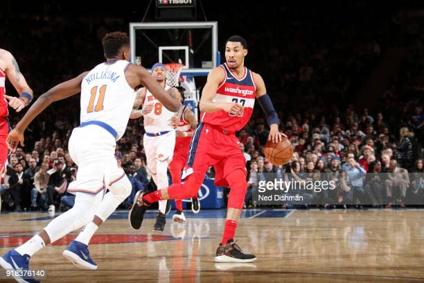 Otto Porter Jr #22 of the Washington Wizards handles the ball against the New York Knicks on February 14 2018 at Madison Square Garden in New York NY...