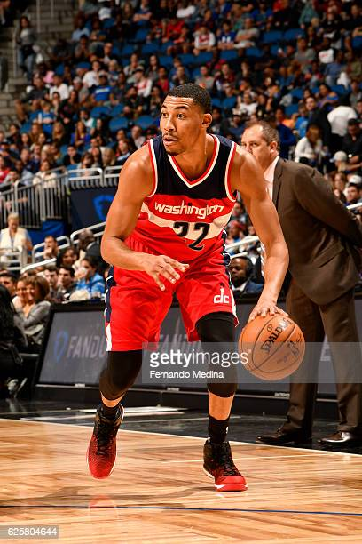 Otto Porter Jr #22 of the Washington Wizards handles the ball during a game against the Orlando Magic on November 25 2016 at the Amway Center in...
