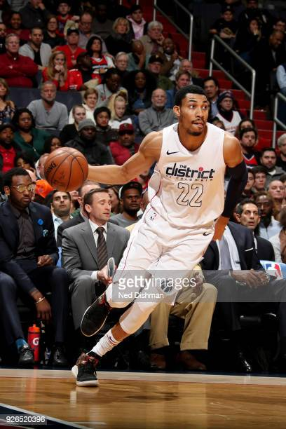 Otto Porter Jr #22 of the Washington Wizards handles the ball during the game against the Portland Trail Blazers on March 2 2018 at Capital One Arena...