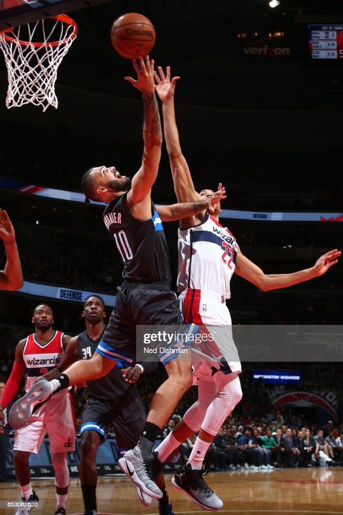 Otto Porter Jr. #22 of the Washington Wizards shoots the ball against the Orlando Magic on March 5, 2017 at Verizon Center in Washington, DC.