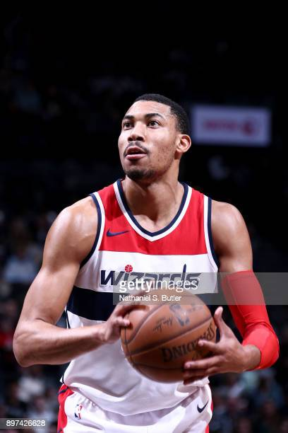 Otto Porter Jr #22 of the Washington Wizards shoots the ball against the Brooklyn Nets on December 22 2017 at Barclays Center in Brooklyn New York...