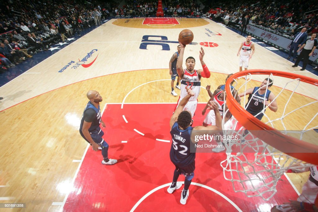 Otto Porter Jr. #22 of the Washington Wizards shoots the ball against the Minnesota Timberwolves on March 13, 2018 at Capital One Arena in Washington, DC.
