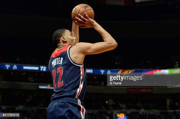 Otto Porter Jr #22 of the Washington Wizards shoots the ballÊagainst the Cleveland Cavaliers at Verizon Center on February 6 2017 in Washington DCÊ...