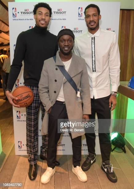 Otto Porter Jr Arnold Oceng and Trevor Ariza attend the Tissot party celebrating their partnership with the NBA as the official timekeeper of the...